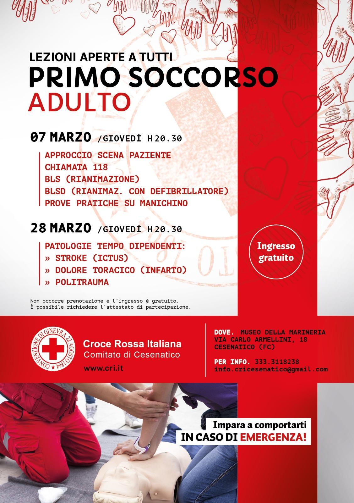 Lezioni di Primo Soccorso per la cittadinanza 2019 - Croce Rossa Italiana -  Comitato Locale di Cesenatico